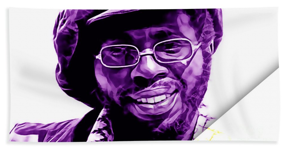Curtis Mayfield Bath Sheet featuring the mixed media Curtis Mayfield Collection by Marvin Blaine