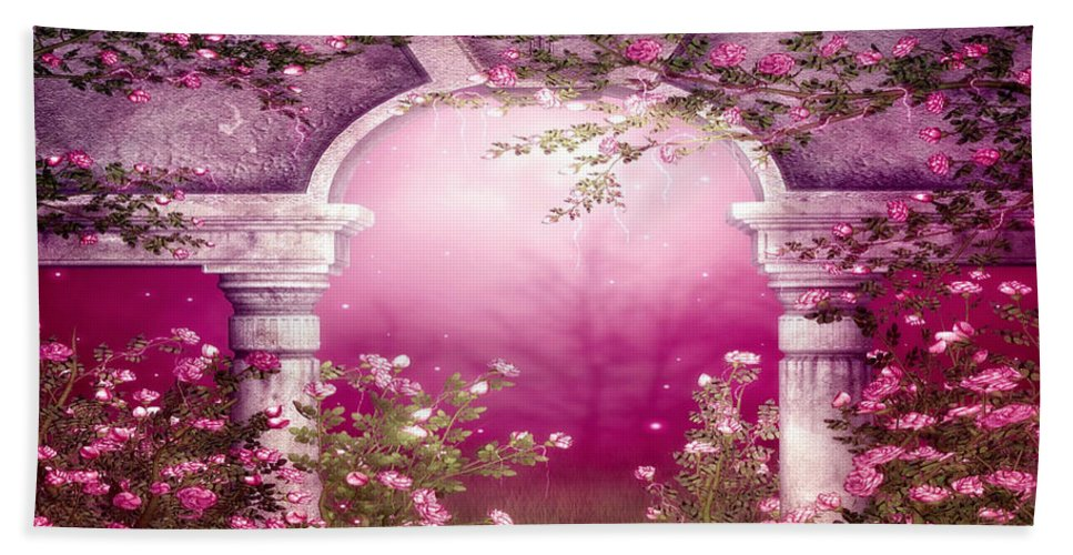 Flower Hand Towel featuring the digital art Flower by Zia Low