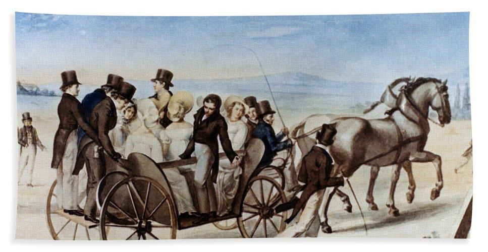 1820 Bath Sheet featuring the photograph Franz Schubert (1797-1828) by Granger