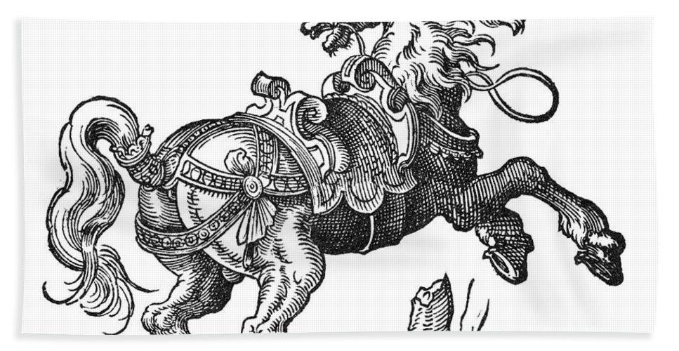 1584 Bath Sheet featuring the photograph Horse by Granger