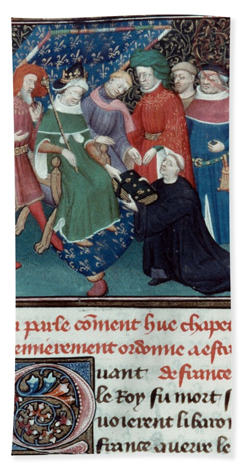 10th Century Bath Sheet featuring the photograph Hugh Capet (c938-996) by Granger