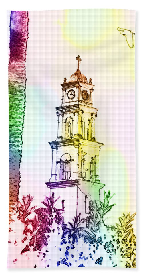 Imagination Hand Towel featuring the photograph Jaffa, St Peter Church And Monastery by Humorous Quotes