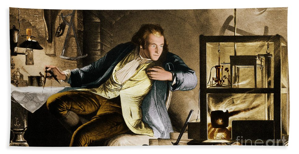 Science Hand Towel featuring the photograph James Watt, Scottish Inventor by Science Source