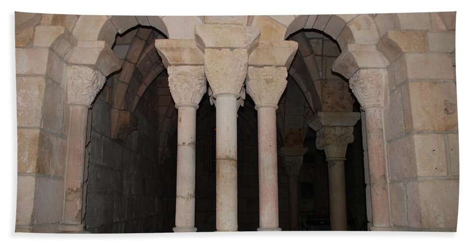 Arches Bath Sheet featuring the photograph Miami Monastery by Rob Hans