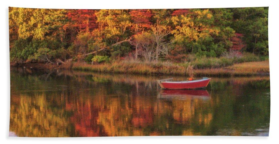 Autumn Bath Sheet featuring the photograph Autumn Reflection by JAMART Photography