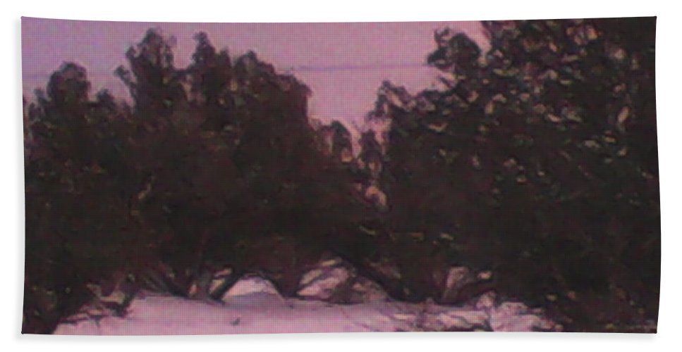 Snowy Hand Towel featuring the photograph Snowy Desert Landscape by Frederick Holiday