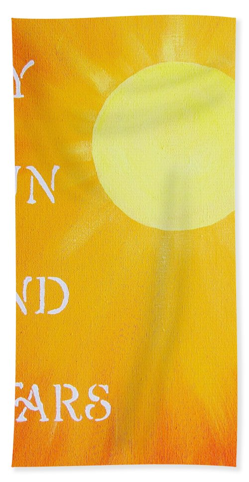My Sun And Stars Hand Towel featuring the painting 8x10 My Sun And Stars by Michelle Eshleman