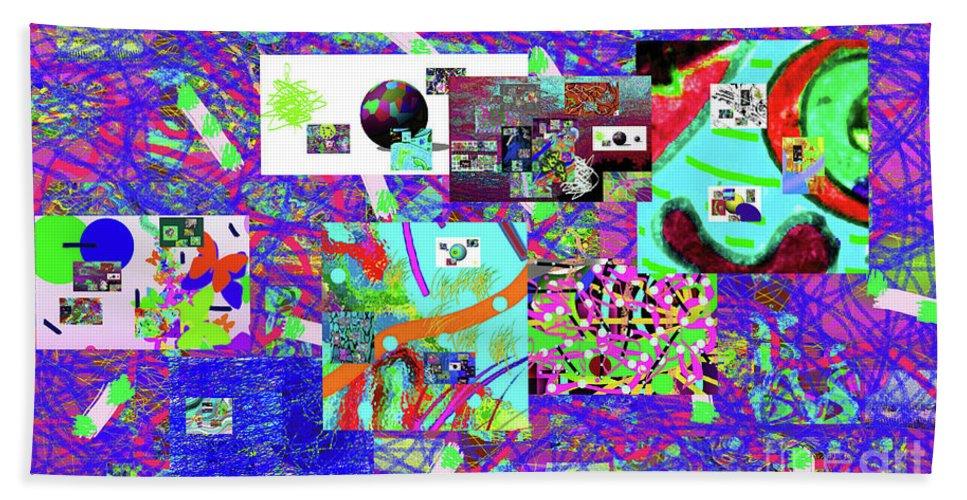 Walter Paul Bebirian Hand Towel featuring the digital art 9-12-2015babcdefghij by Walter Paul Bebirian