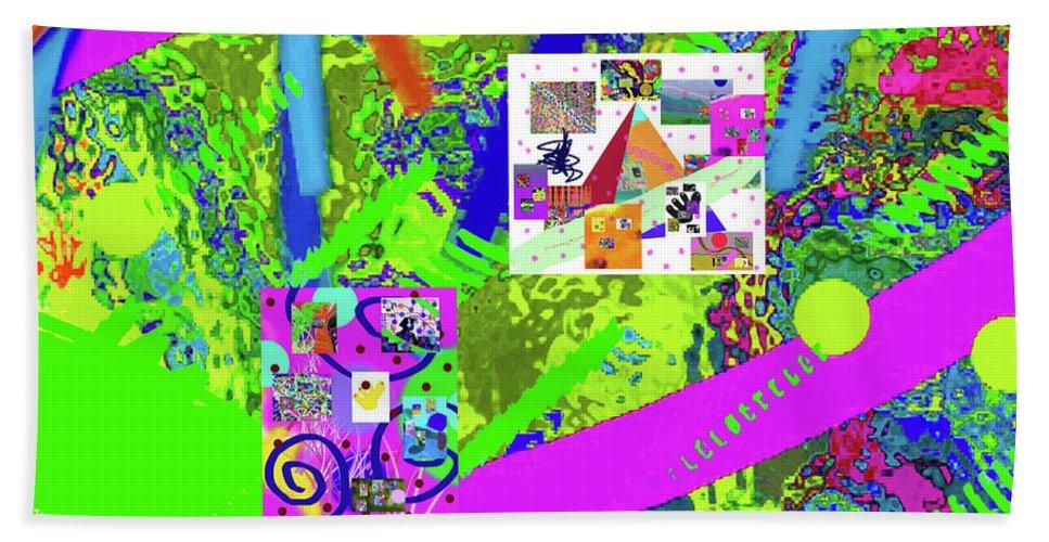 Walter Paul Bebirian Bath Sheet featuring the digital art 9-18-2015eabcdefghijklmnopqrtuvwxy by Walter Paul Bebirian