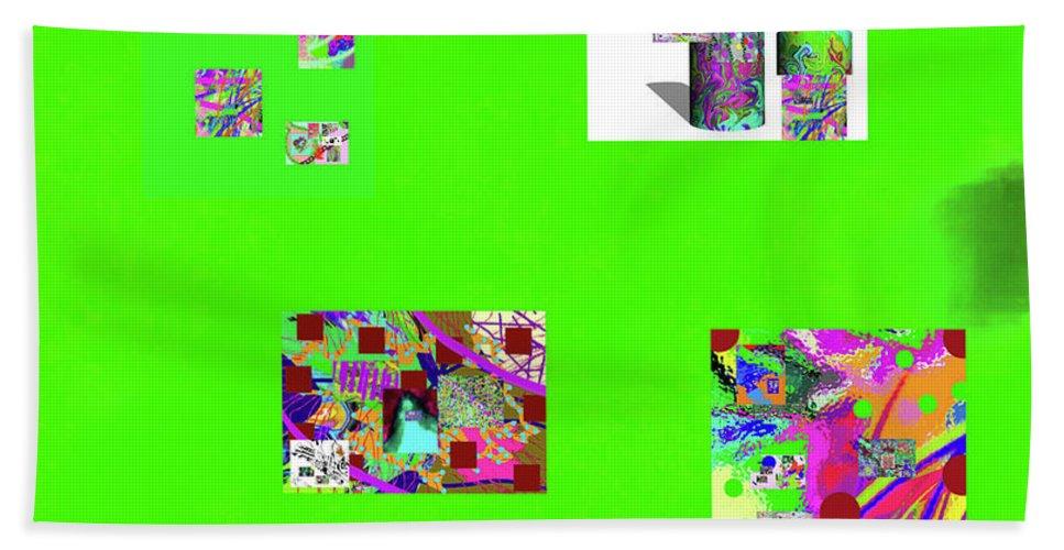 Walter Paul Bebirian Hand Towel featuring the digital art 9-6-2015habcdefghijkl by Walter Paul Bebirian