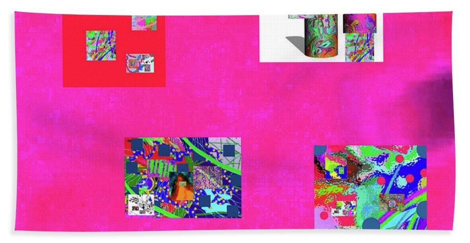 Walter Paul Bebirian Hand Towel featuring the digital art 9-6-2015habcdefghijklmnopqrtuvwxyzab by Walter Paul Bebirian