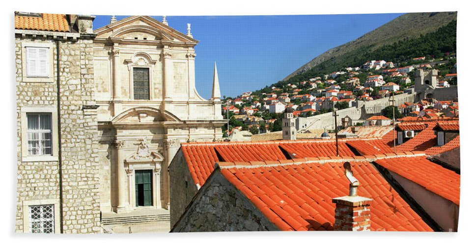 Dubrovnik Hand Towel featuring the photograph Croatia, Dubrovnik by Ruth Hofshi