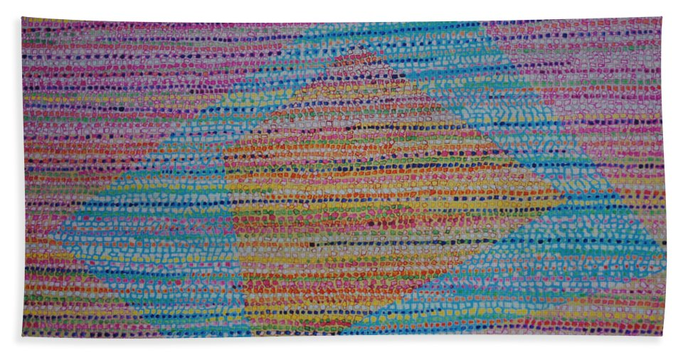 Inspirational Hand Towel featuring the painting Mobius Band by Kyung Hee Hogg