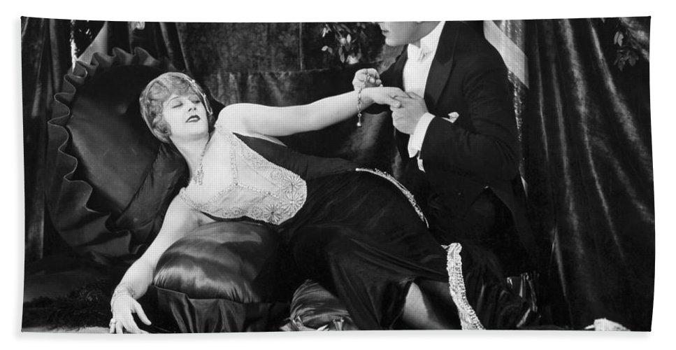 -one Man One Woman- Bath Sheet featuring the photograph Silent Still: Man & Woman by Granger