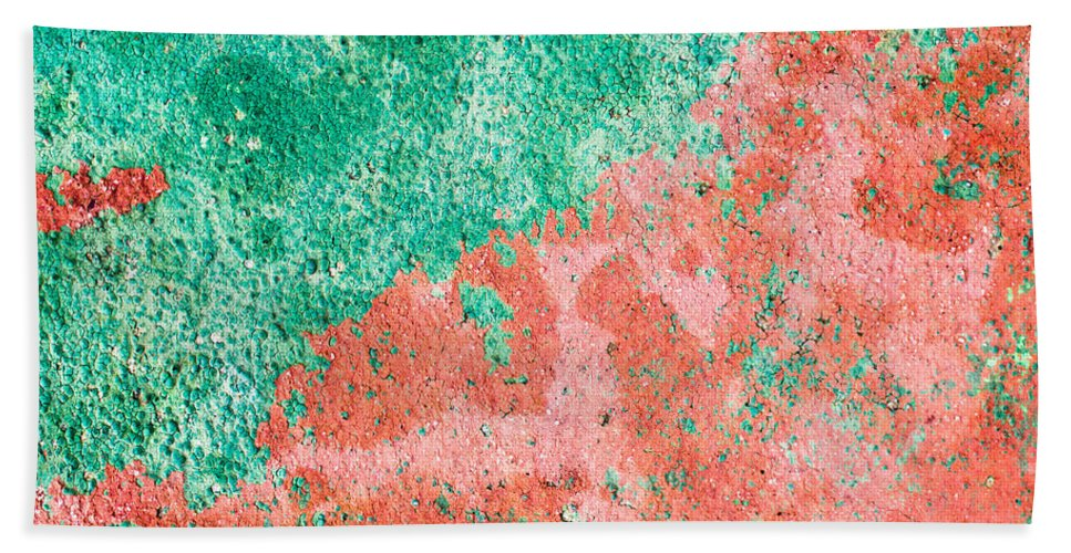Abstract Bath Sheet featuring the photograph Stone Background by Tom Gowanlock
