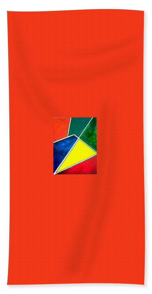 Primary And Sondary Colors Bath Towel featuring the painting 99870 Colors by Andrew Johnson