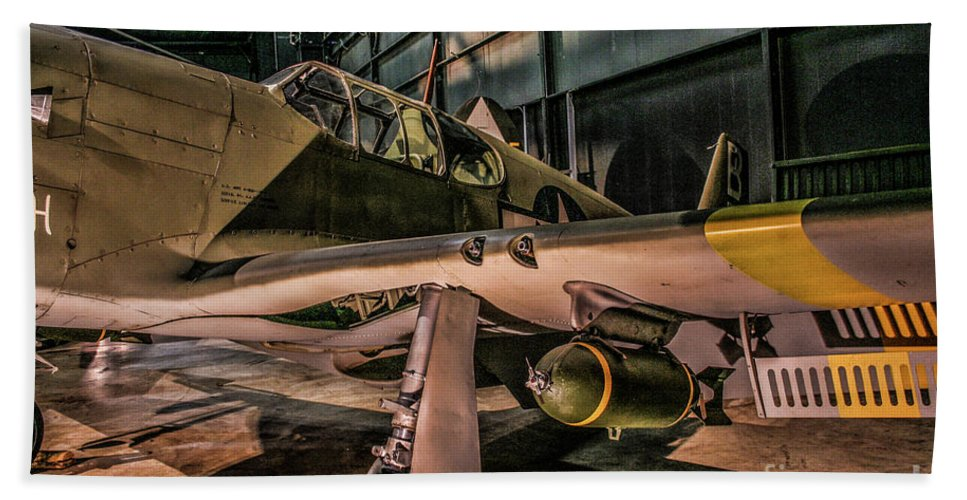 Usaf Museum Bath Sheet featuring the photograph A-36a Apache by Tommy Anderson