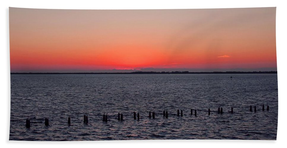 Sunset Hand Towel featuring the photograph A Beautiful Heist by Michiale Schneider