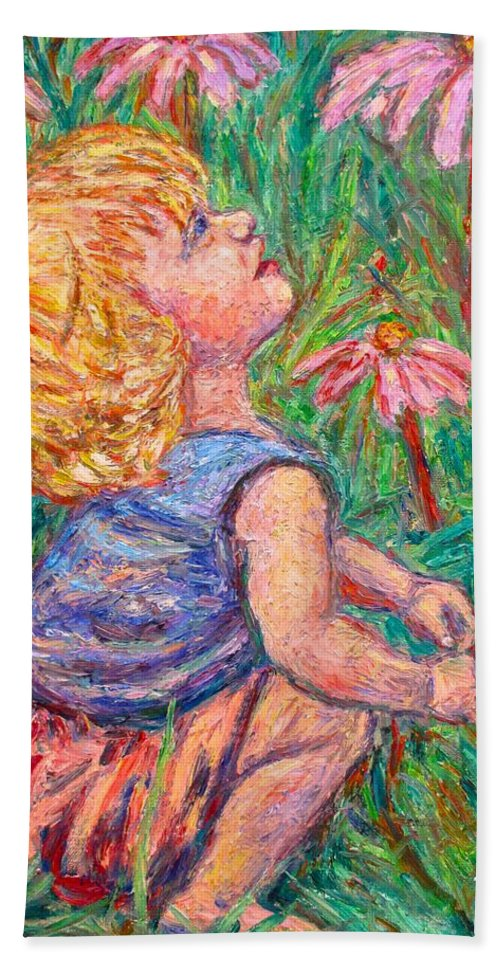 Child Hand Towel featuring the painting A Beautiful Moment by Kendall Kessler