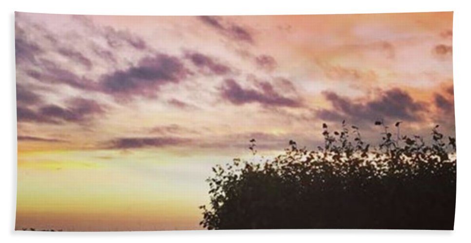 Norfolklife Bath Towel featuring the photograph A Beautiful Morning Sky At 06:30 This by John Edwards