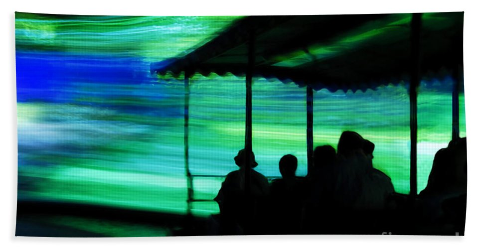 Time Travel Bath Sheet featuring the photograph A Boat Ride Through Time by David Lee Thompson