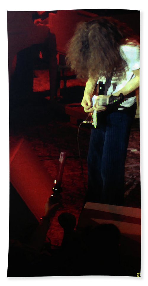Allen Collins Hand Towel featuring the photograph A C Winterland Bong 2 by Ben Upham