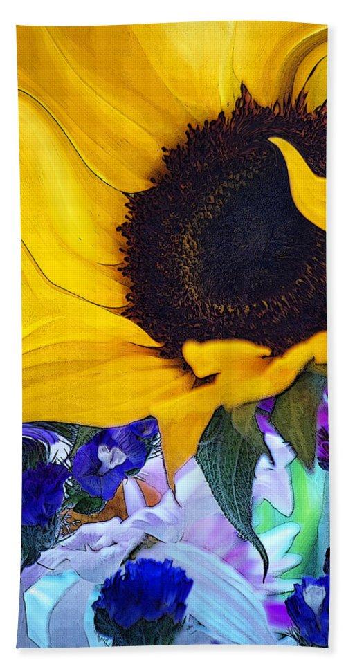 Flowers Bath Sheet featuring the photograph A Childs Mind... by Arthur Miller