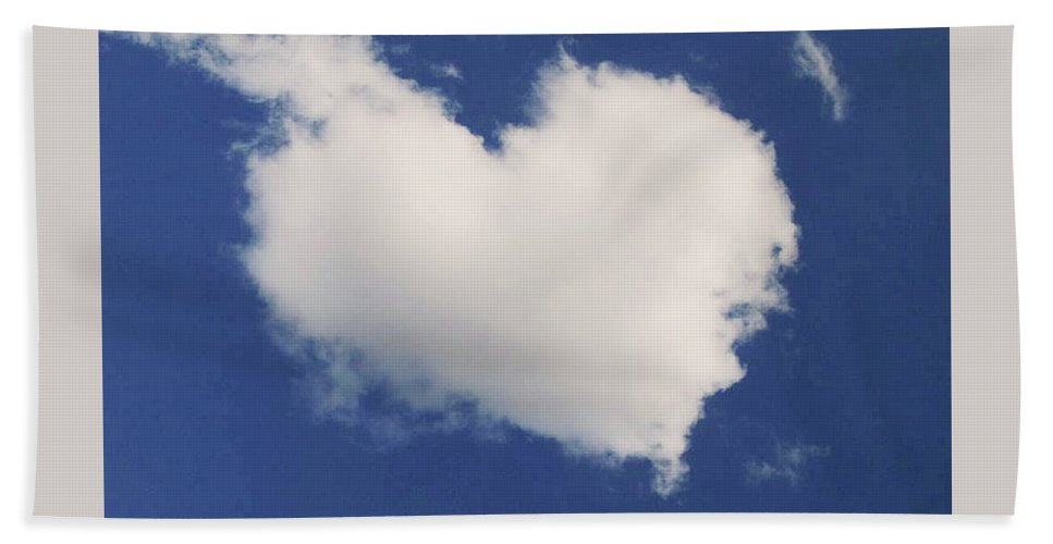 Heart Cloud Formation Photo Hand Towel featuring the photograph A Cloud Heart by Madonna Tanael