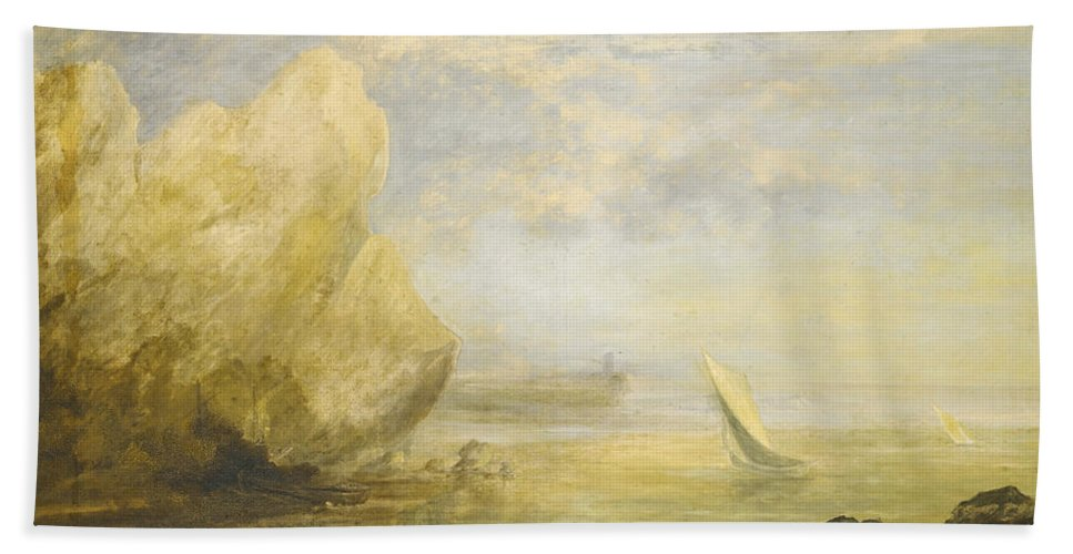 Thomas Gainsborough Bath Sheet featuring the painting A Coastal Landscape by Thomas Gainsborough
