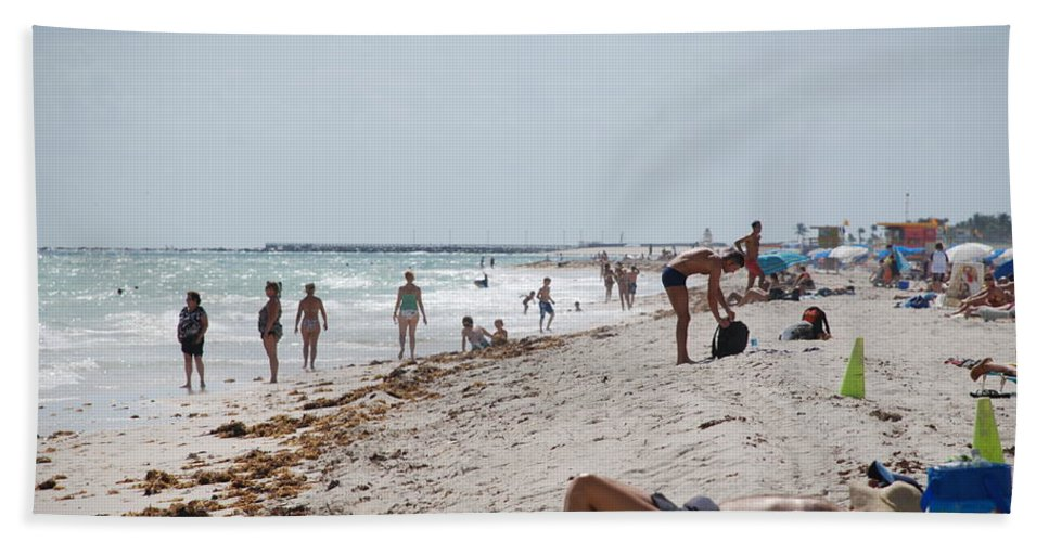 Nude Hand Towel featuring the photograph A Day At Paradise Beach by Rob Hans