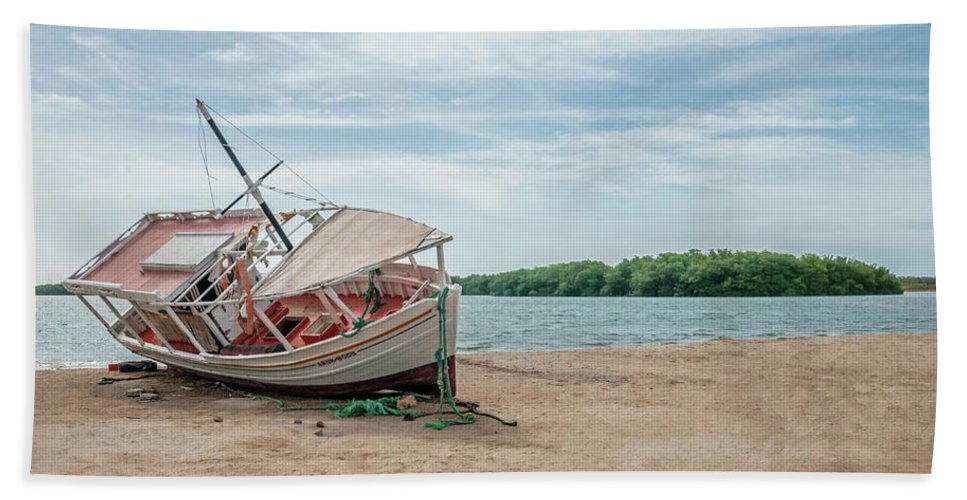 Trinidad And Tobago Bath Sheet featuring the photograph A Day Of Fishing Aground by Wilfredo R Rodriguez