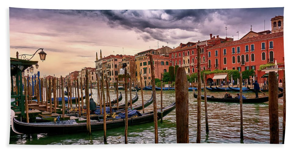 Towel with image of surreal seascape in Venice
