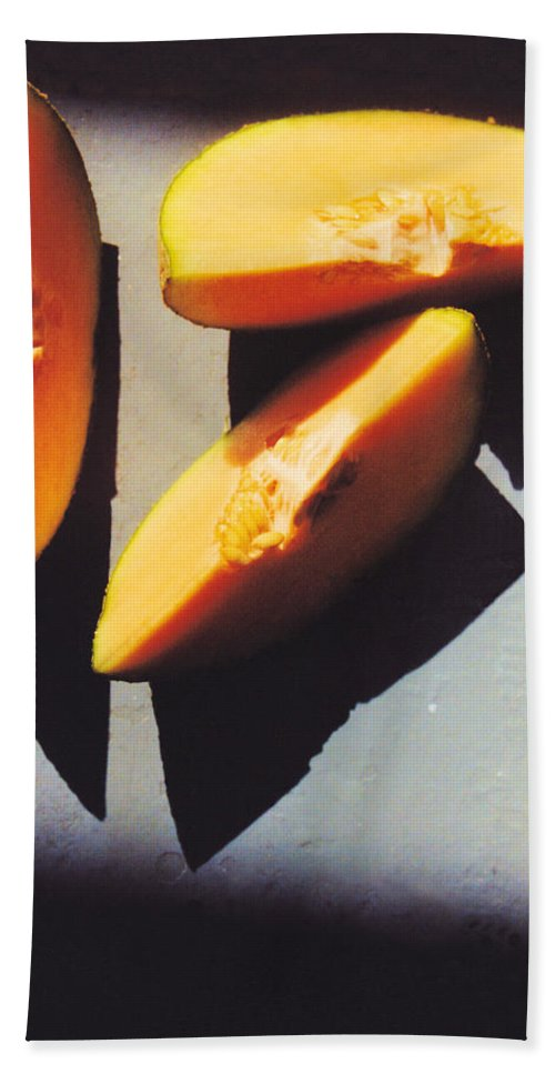 Still Life Hand Towel featuring the photograph A Few Slices by Jan Amiss Photography