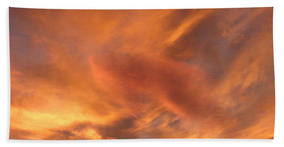 Sky Hand Towel featuring the photograph A Glorious Evening Sky by Will Borden