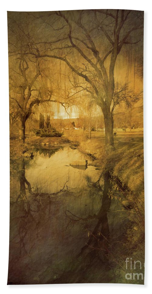 Trees Bath Sheet featuring the photograph A Golden Winter 2 by Tara Turner