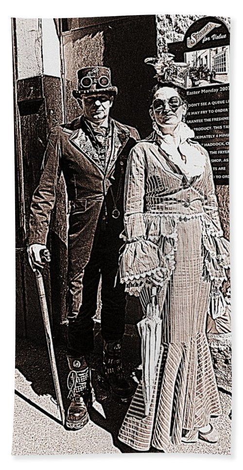Photograph Hand Towel featuring the photograph A Gothic Stroll by Nicola Graham