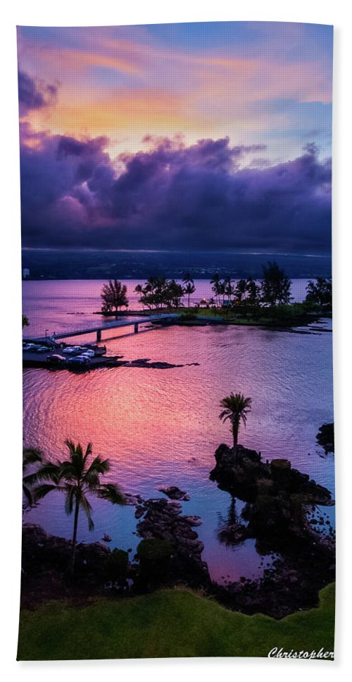 Hawaii Bath Sheet featuring the photograph A Hilo View by Christopher Holmes
