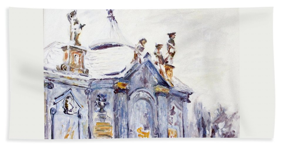 Landscape Hand Towel featuring the painting A Kettle-drum by Pablo de Choros