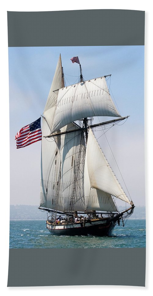 Tall Ship Hand Towel featuring the photograph A Life At Sea by Mary-Ella Bowles
