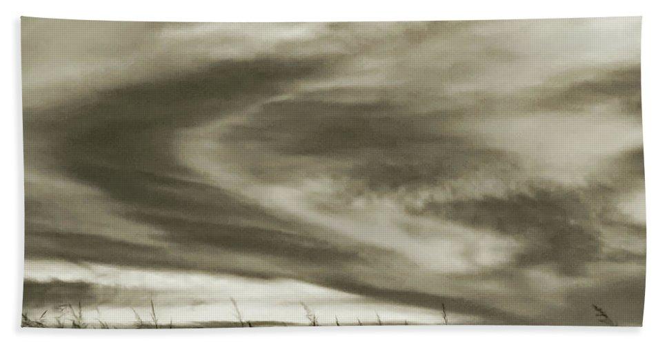 Sunset Hand Towel featuring the photograph A Light Embrace by Steve Harrington