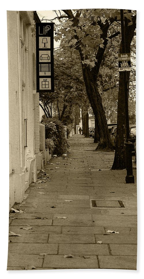 London Bath Sheet featuring the photograph A London Street I by Ayesha Lakes