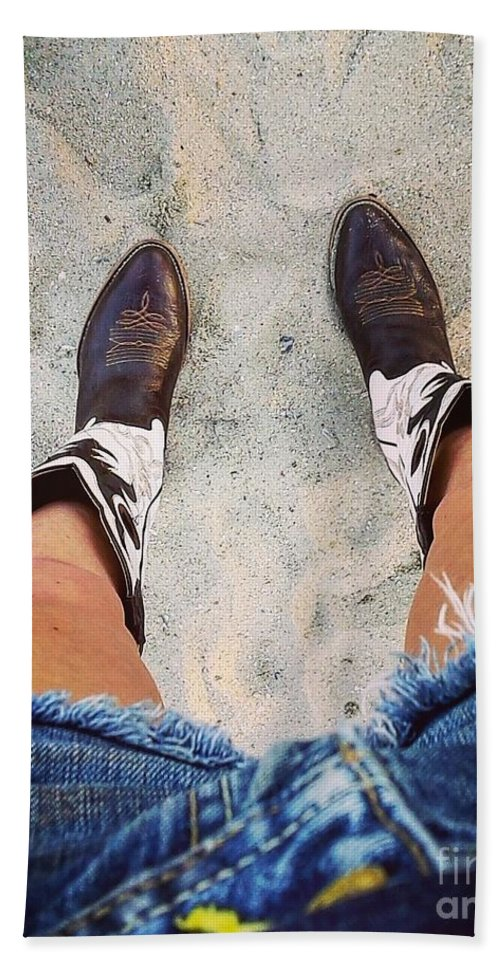 Sand Bath Sheet featuring the photograph A Long Ways From Home by Cheyanne Renee