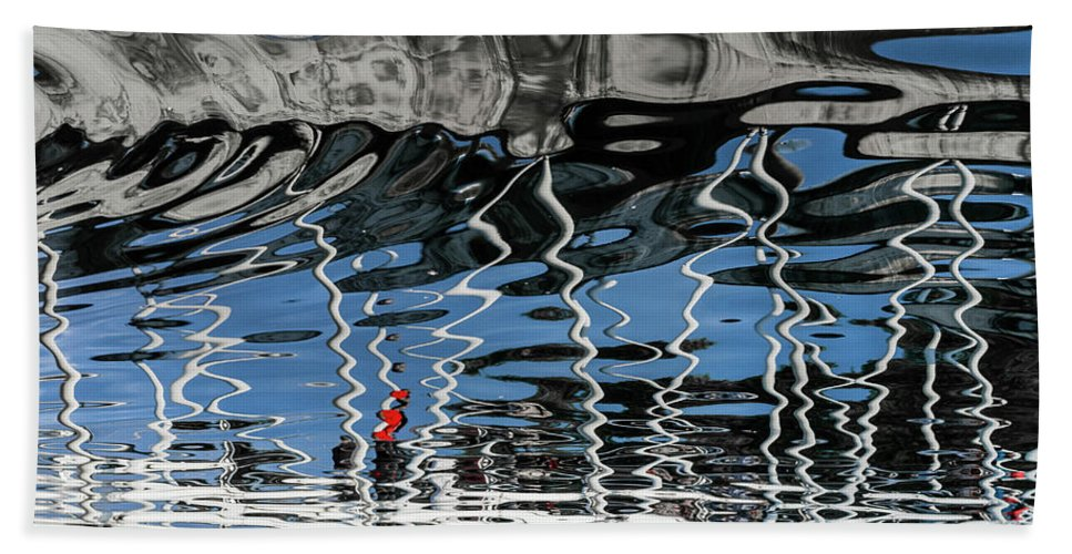 Abstract Bath Sheet featuring the photograph Reflection by Arnob Antor