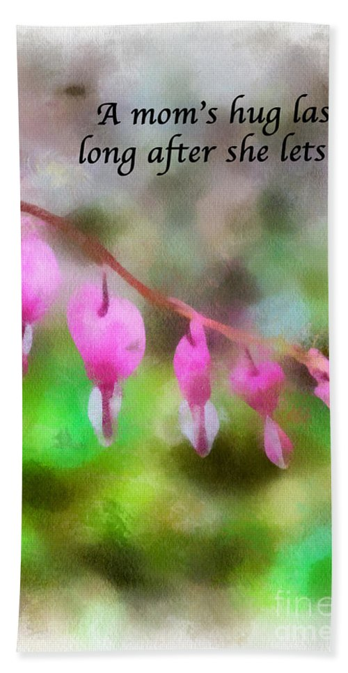 Mother's Day Art Hand Towel featuring the photograph A Mom's Hug .... by Kerri Farley