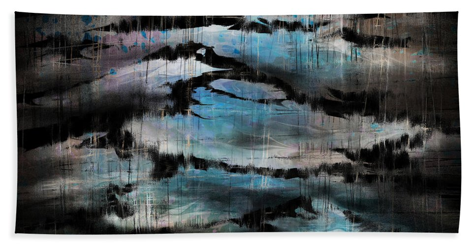 Moonlit Hand Towel featuring the digital art A Moonlit Night by Rachel Christine Nowicki