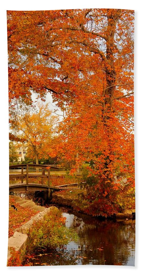 New Jersey Hand Towel featuring the photograph A Morning In Autumn - Lake Carasaljo by Angie Tirado