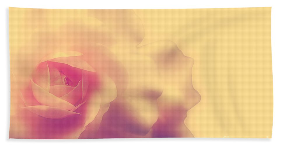 Rose Bath Sheet featuring the photograph A New Day by Lois Bryan