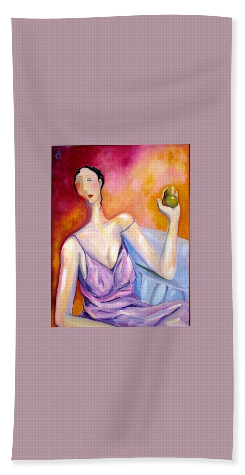 Figure Hand Towel featuring the painting A New Pair by Heather Roddy
