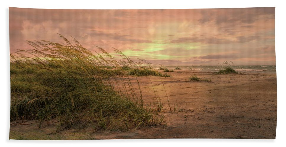 Beach Bath Sheet featuring the photograph A Painted Sunrise by John M Bailey