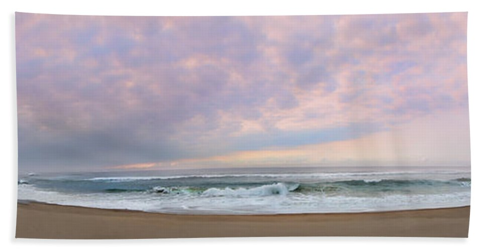 Landscape Hand Towel featuring the photograph Panoramic Photograph Of A Peaceful Sunrise At Lake St Lucia In South Africa by Ronel Broderick